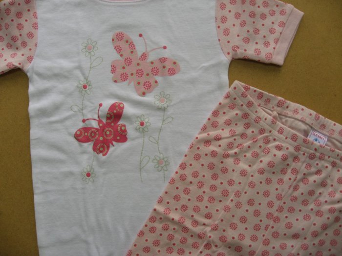 Old Navy Baby Girls Pajamas - Flowers & Butterflies - Sweet Pink