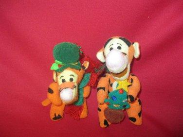 Disney Winnie the Pooh Tigger Ornaments lot 2 Hanging Plush Christmas Tree