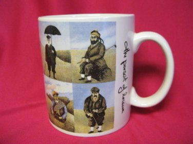 Cup Mug Golf Large Signed Guy Buffet The Pursuit of Leisure Coffee Collectible