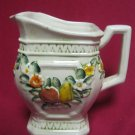 "Lefton Pitcher Vintage #6725 Rare Square 5"" Fruit Fowers  Deco Collectible"