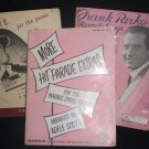 LOT 3 VINTAGE MUSIC BOOKS 1946 1936 1942 FRANK PARKER S