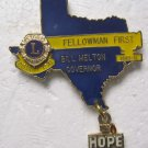 Lions Club Pin Vintage 1980-1981 Bill Melton Gov. Hope Dangle Key dist. 2-x1
