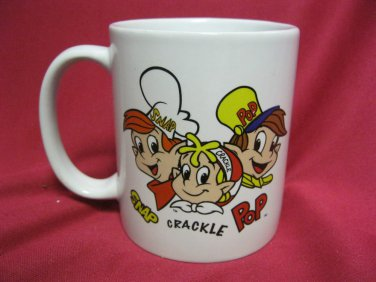 COFFEE Cup Mug ADVERTISING Cereal KELLOG Snap  Crackle Pop 2001