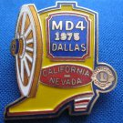 LIONS CLUB PIN MD 4 1975 DALLAS CALIFORNIA NEVADA BOOT