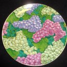 VINEYARD GRAPE COLLECTIBLE PLATE W METAL HANGER JOHNSON