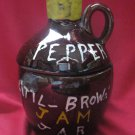 RELCO JAPAN CREATIONS PEPPER LITTLE BROWN JAM JAR
