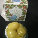 Avon Love Nest Soap Dish and Three 3 Special Occasion Fragranced Soaps New w Box