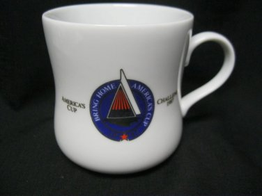 Cup Mug Taster's Choice Sail America's 1987 Cup Challenge  Sail Boat