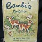 1939 Dandelion Book  2 in 1 Bambi's Children Felix Salten & Old Rosie
