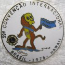 Lions Club Pin Vintage Rare Brasil 1976 Hawaii International Convention Pin Back