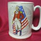 Vintage ELLGREAVE MUG CUP STEIN ENGLAND IRONSTONE Liberty Bell George Wasington