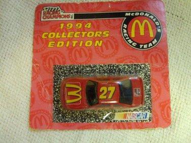 1994 COLLECTORS EDITION RACING CAR CHAMPIONS MCDONALDS 27