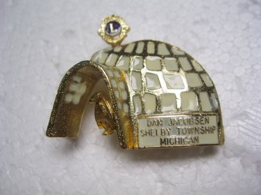 Lions Club Pin Rare Vintage Igloo Dan Jacobsen Shelby Twp. Michigan