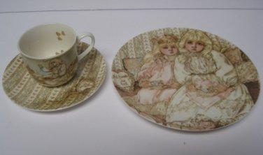 Lenox Childrens Dish Set Cup Saucer Plate Young Ladys Tea Set June Amos Grammer