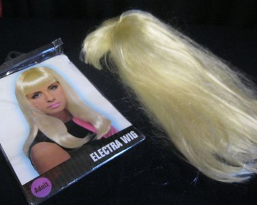 Wig Blond Long Hair with Bangs Electra Wig Used only once EUC