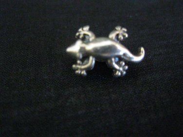 Pandora Lizard Gecko Sterling Silver .925  charm bead