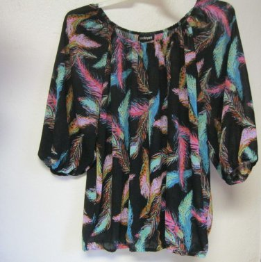 Lane Bryant sz 14/16 Sheer Shirt Blouse Womens Top