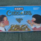 Hershey's Food  Game Chocers  Checker Game w Hershey Kisses as play pieces 1991
