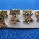 LIONS CLUB PIN ASHLEY, PA 1982 SET 4 LIBERTY BELLS
