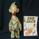 Sad Sack WWII cartoon doll toy figure & Comic Book Feb. No. 102 George Baker