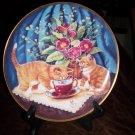 Cat Collector Plate, Tea For Two