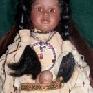 Brinn's Porcelain Doll, Native American Doll with Baby