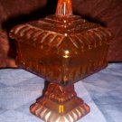 Antique Amber Candy Dish