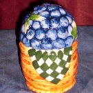 Vintage Slat & Pepper Shakers, Basket of Blueberries