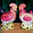 Vintage Salt and Pepper Shakers, Roosters