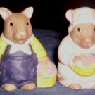 Vintage Salt & Pepper Shakers, Mr. & Mrs. Mouse