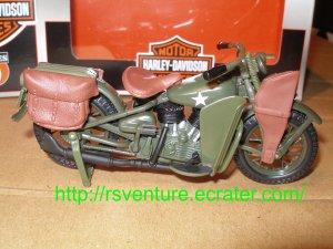 Vintage Maisto 1942 Harley Davidson WLA Flat Head Motorcycle