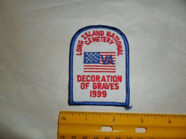 Long Island National Cemetery Decoration of Graves Patch 1999