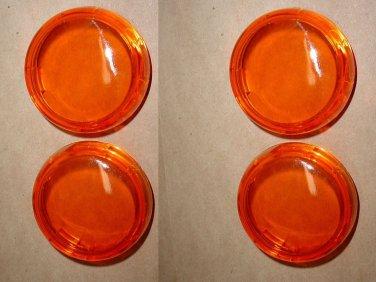 Harley Davidson OEM 4 Bullet Style Turn Signal Lenses Amber 68973-00