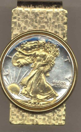 Walking Liberty Half Dollar Coin Money Clip