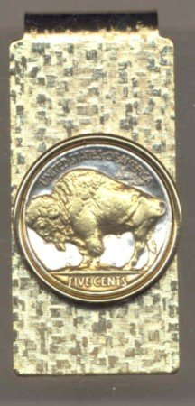 Buffalo Nickle Coin Money Clip