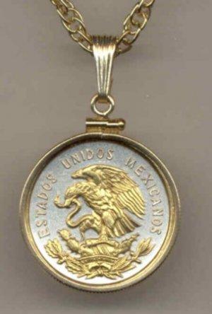 Mexican 10 Centavo Coin Necklace Pendant Mexico