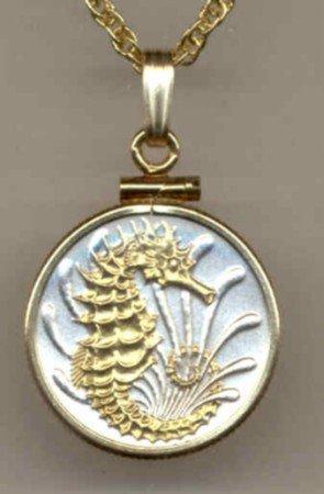 Seahorse Coin Necklace Pendant