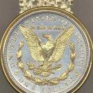 Morgan Silver Dollar Coin Money Clip Eagle