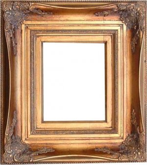 ANTIQUE GOLD ORNATE WOOD FRAME PICTURE PAINTING 810