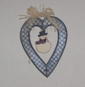 Primitive Wall Decor - Wooden Heart - Changing Seasons