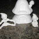 Ceramic Pixie Elves House Pixies Ready To Paint Bisque
