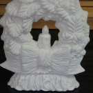 Ceramic Christmas Wreath On Base Ready To Paint Bisque
