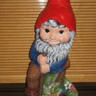 Large Ceramic Garden Gnome Dwarf Ready To Paint Ceramic Bisque Shovel