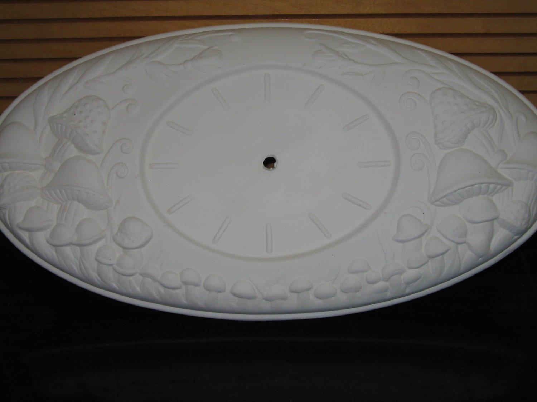 Ceramic Bisque Mushroom Clock U Paint Ceramics Ready To Paint