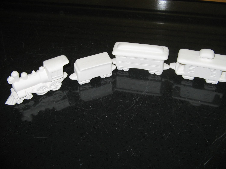 Ready To Paint Mini Train Cars Ceramic Bisque U Paint Trains