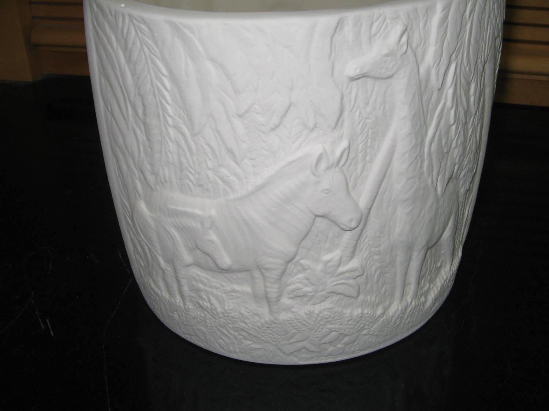 Ready To Paint Zebra Giraffe Flower Pot Planter U Paint Ceramic Bisque