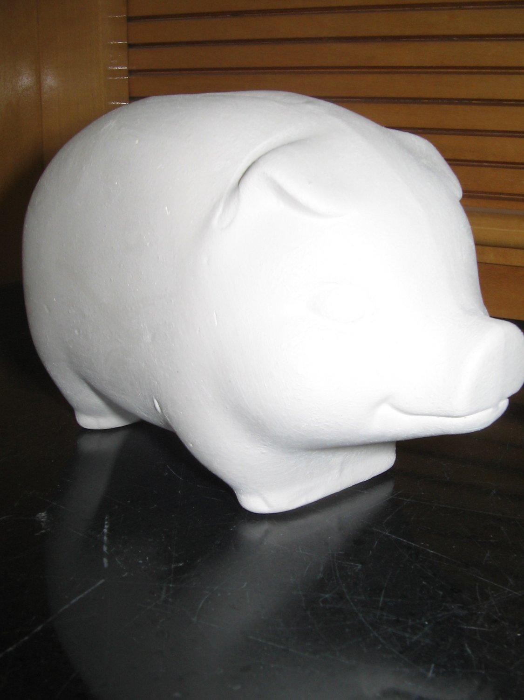 Ready to Paint Ceramic Bisque Piggy Bank U Paint Ceramics