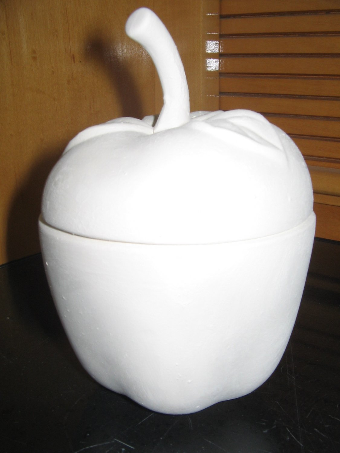 Apple Bowl With Lid Ready To Paint Ceramics U Paint