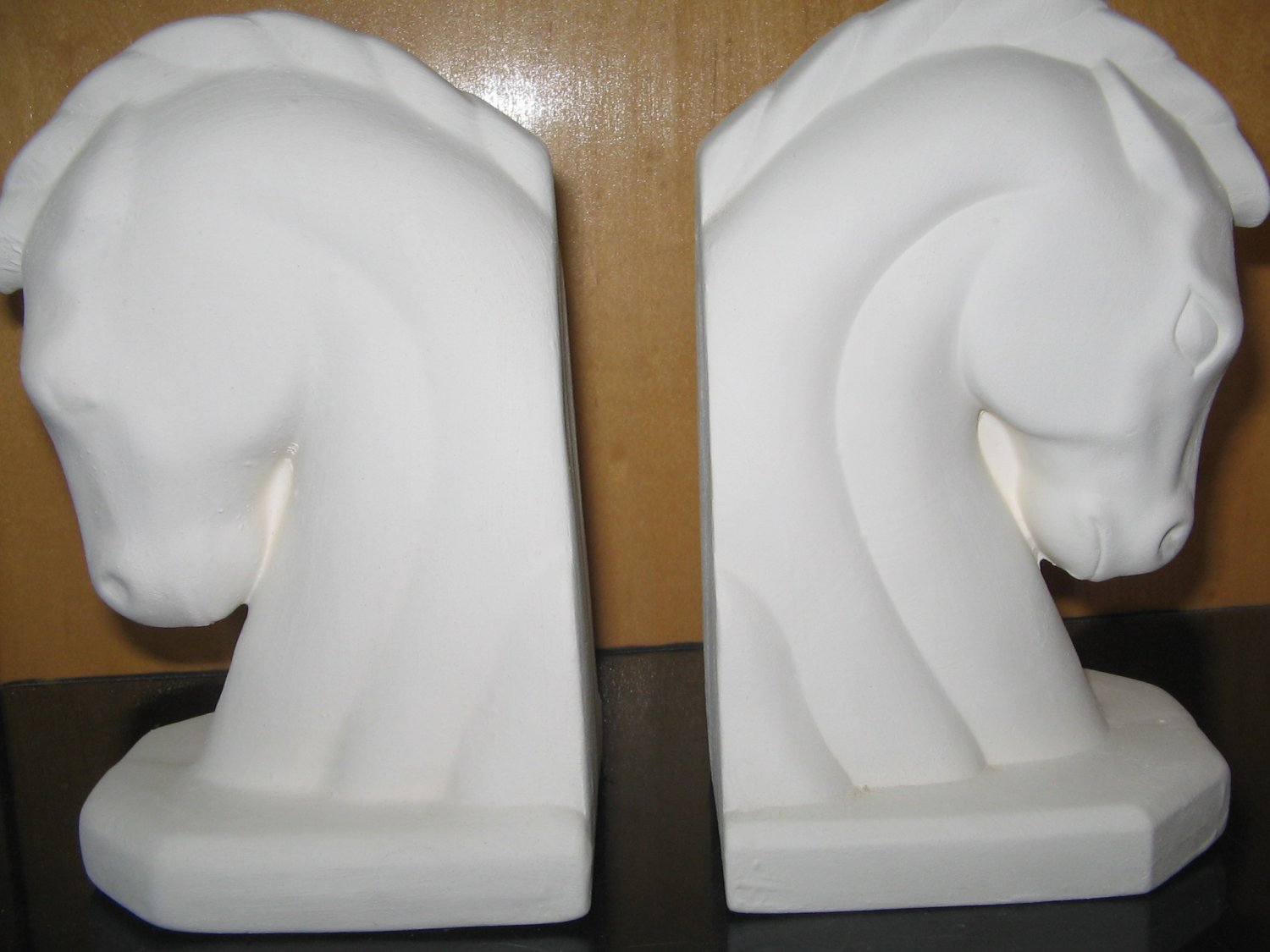Ceramic Bisque Horse Head Bookends Ready To Paint U Paint