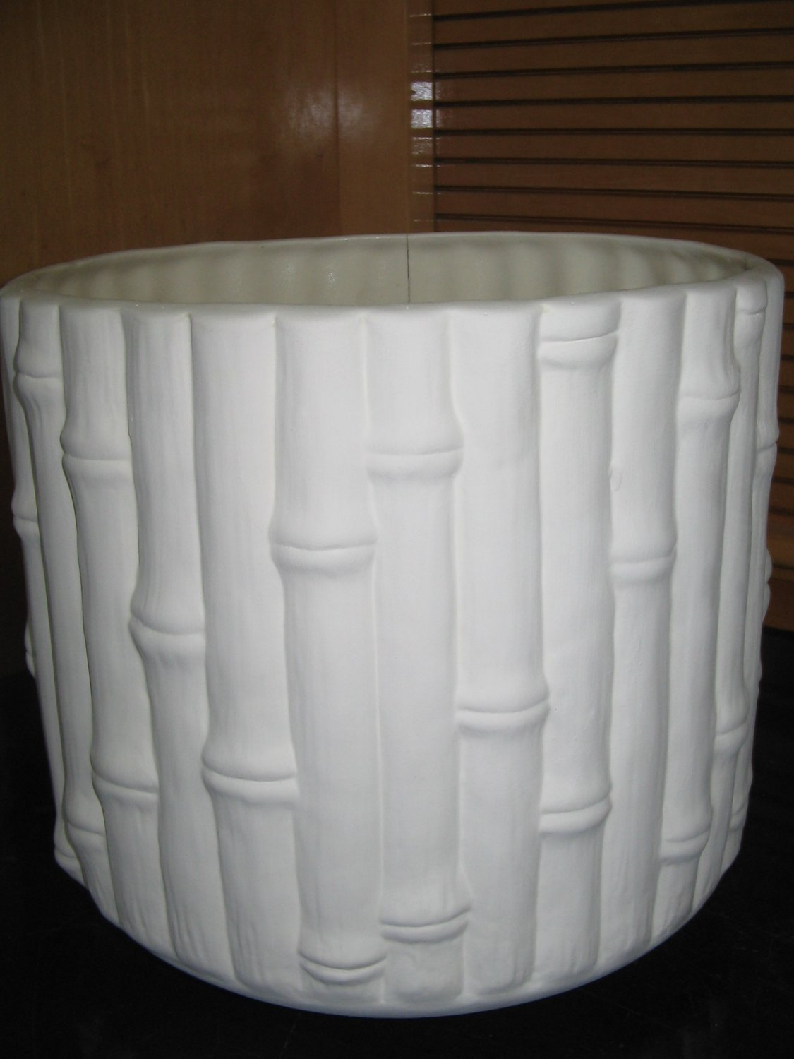 Ready To Paint Bamboo Look Ceramic Flower Pot Bisque U Paint